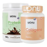 Wonu Kit Force Proteína Chocolate 500g + Colágeno Mandarina