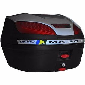 Bauleto Bau Moto Para Bagageiro Mx 30 Litros Mixs Prata