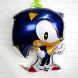 Sonic Balão Metalizado Festa Aniversario 20 Balões - Atacado