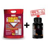 Whey Iron Meal Whey Isolado 3kg + Tribulus Terrestris 60cps