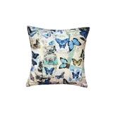 Cojin Decorativo Mariposas Azules Dis-002