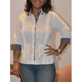 Camisa Guayabera Yucateca Uniforme Ofic Casual Dama  cfk1191 771a6119053