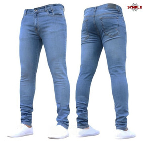 Jean Chupin Hombre Elastizado Pantalon Resistente Costura