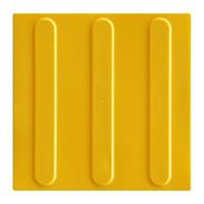 48pçs Piso Direcional Amarelo Pvc 25x25cm