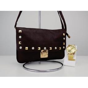a321be3ba Bolsa Vickaldany Preta C/dourado Original - Bolsas Laranja escuro no ...
