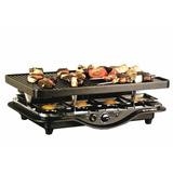 Parrilla Electrica Antiadherente Grill 1200w 8 Racleteras