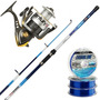 Kit Pesca Rio Waterdog Caña Patriot 2.40m + Reel Century 402