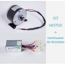 Motor Electrico 200w + Controlador Kit Scooter Bici Patineta