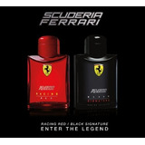 Perfumes Ferrari X 2 Black Signature & Red Racing 125ml