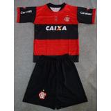 Conjunto Infantil Flamengo Short+camisa Pronta Entrega 2017