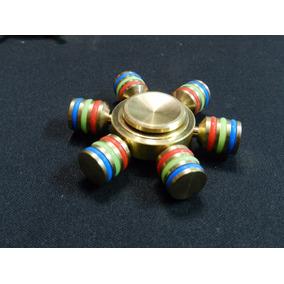 Fidget Hand Spinner Hexagonal Dourado Timao Barato Top
