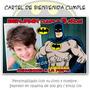 Batman Avengers Hombre Araña Cartel Cumpleaños Con Tu Foto