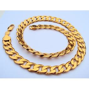 Corrente Cordão Banhado A Ouro 24k Grosso E Pesado 12mm