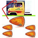 Lanterna Teto Sinalizador Caminhão Antigo Mb 608 Amarela 5un