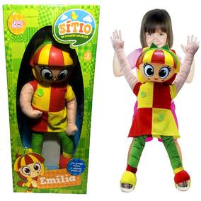 Boneca Emilia Gigante 65cm Sitio Picapau Amarelo Baby Brink