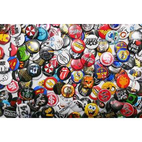 Botons De Bandas Personalizados, Botton 10un De 3,8cm