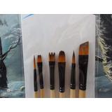Set 6 Pinceles Maquillaje Artístico Fibra Toray Envíos