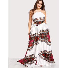 Vestido Blanco Largo, Tallas Extras 2 Xl, Tallas Grandes