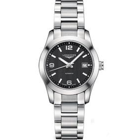 Reloj Longines Conquest Classic Dial Negro Acero Inoxidab...
