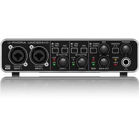 Placa De Sonido Behringer Umc 204hd 2x4 Midas Interfaz Audio
