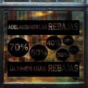 Vinilos Decorativo Vidriera Ultimos Dias Rebajas 66x51cm