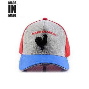 Boné Jãum Jãum Rooster -tela Vermelha E Aba Azul