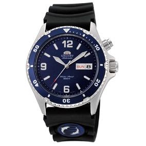 Relógio Orient Aut Mako Fem65005dw Azul Mergulho Nota Fiscal