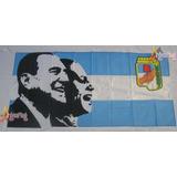 Bandera Justicialista Evita Y Peron 150 X 90cm Argenflag