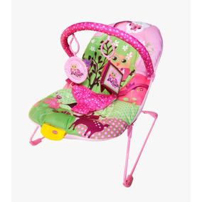 Cadeira Cadeirinha Descanso Musical Vibratoria Bebê Rosa
