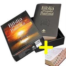 Bíblia Do Pregador Pentecostal Grande Com Esboços Preta