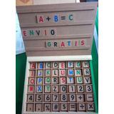 Alfabeto Movil Letras Y Numeros Madera Letras Envío Gratis