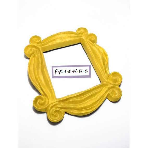 Marco Cuadro 3d Amarillo Friends Puerta Monica Rachel Regalo