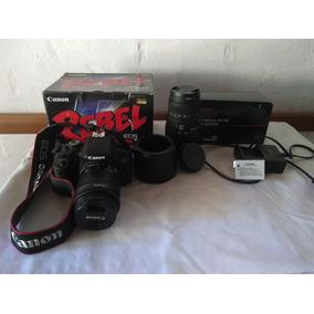 Camara Canon Rebel T5i Con Lente Sigma 70-300