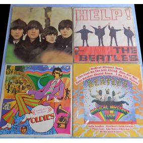 4 Lps Beatles - For Sale, Help, Oldies E Magical