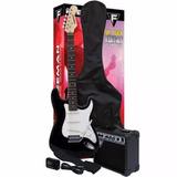 Pack De Guitarra Eléctrica Full Rock C/negro