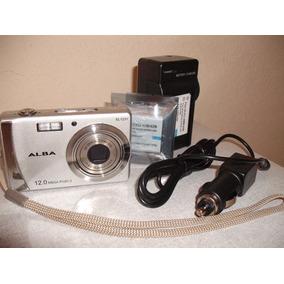 Câmera Alba Sl1231 12mp Prata + Carreg + 2 Baterias (#10a7)