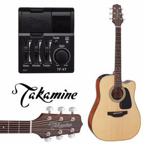 Violão Natural Takamine 6 Cordas Eletro Acústico Pré Tp4