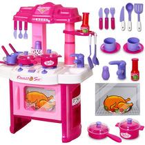 Cocina Para Niñas Con Luces Y Sonido Divertida Hermosa
