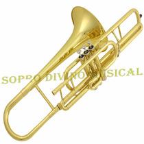 Trombone Pisto Curto Afinação Do Estojo Bocal Frete Gratis