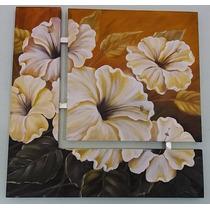 Painel Hibisco - Óleo Sobre Tela