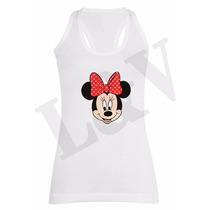 Remeras Musculosas Modal Minnie Disney Diseños Moda 2017