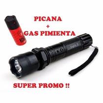 Linterna Picana Electrica + Gas Pimienta Oferta Envios!!