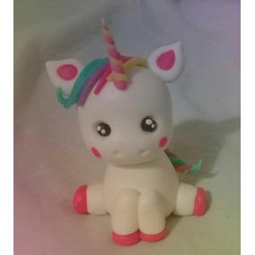 Unicornio Fofinho Feito A Mão Topo De Bolo P/ Decorar Festas