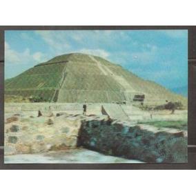 Tarjeta Postal Tridimensional Piramide Del Sol ( México )