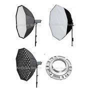 Octobox Octabox 150cm Para Flash Stellar Adaptador Y Tripie