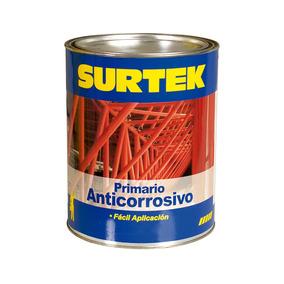 Esmalte Primario Anticorrosivo Rojo Óxido 1lt Sp50256 Surtek