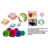 Set Crochet Pom Pom Corazon Bastidor Tejido Redondo Navidad