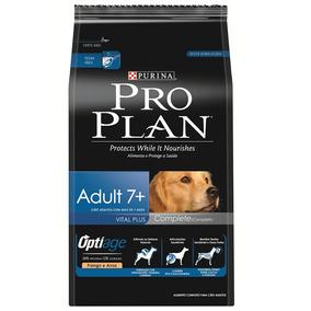 Ração Proplan Para Cães Adultos 7+ Sabor Frango E Arroz -