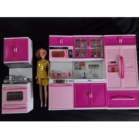 Super Cozinha Maravilhosa Da Barbie Geladeira Micronda Fogão