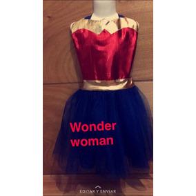 Disfraz Mujer Maravilla Vestido Tutu Para Niña